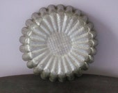 Vintage Tin Mold with Fluted Edges