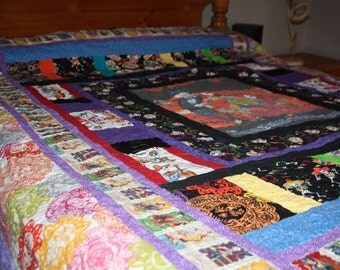California King Size Quilt Custom Order Featuring Day of The Dead