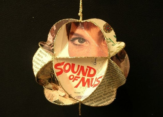 The Sound Of Music Album Cover Ornament Made Of Record Jackets