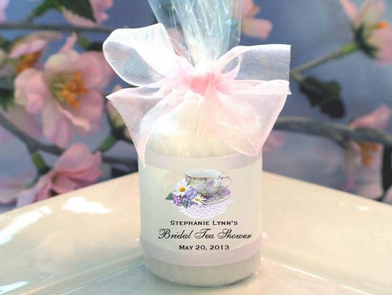 Personalized bridal shower candle votive favors by for Personalized wedding shower favors