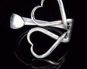 Antique Fork Bracelet in Classic Double Heart Design