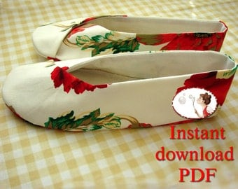 Sewing Pattern for Woman's Kimono Shoes - PDF