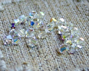 144pcs Swarovski Bicone Crystal Beads Crystal AB Faceted Austrian Crystal 4mm Xilion Model 5328