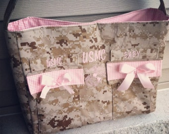 MADE TO ORDER Military Camo Diaper bag