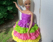 barbie dress purple Rhumba Ruffles
