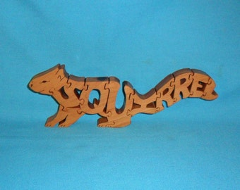 Squirrel Handmade Scroll Saw Wooden Puzzle