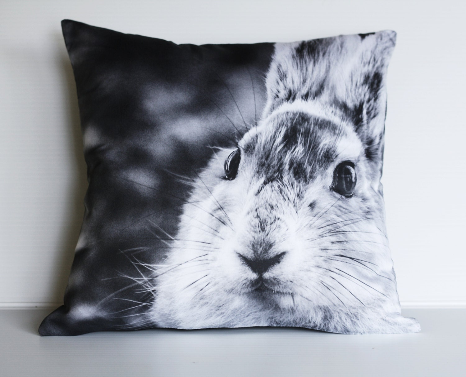 Animal Pictures On Pillows : Rabbit cushion/ animal pillow/ kids decor/ 16 cushion/