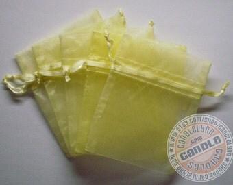 10 LIGHT YELLOW 4x6 Sheer Organza Bags