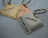 Diamond Pet ID Tag - copper brass aluminum