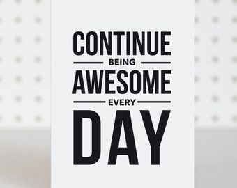 Be Awesome Birthday Card