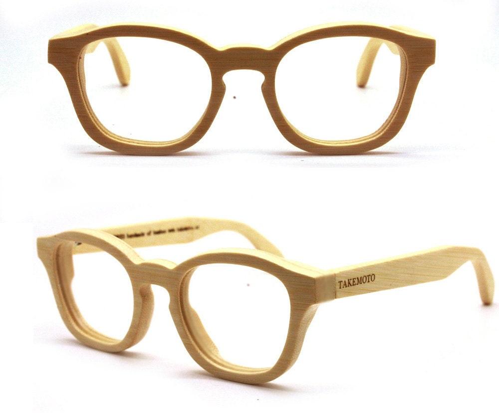 handmade vintage bamboo glasses eyeglasses mjx1103 by takemoto