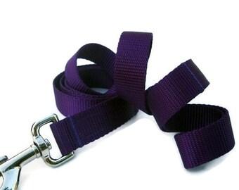 Purple Nylon Dog Leash