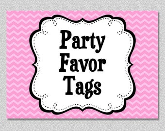 Matching Party Favor Tags, Goody Bag Tags