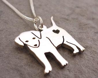 Cutest Puppy Sterling Silver Handmade Pendant