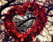 Valentine Photography, Red, Heart, Wall Art, Valentine Day, Love, Be Mine, Color Photographic Print, 8x10