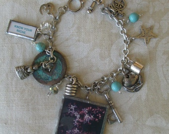 Soldered Jewelry Charm Bracelet Charmed Vintage KNOW YOUR NICHE