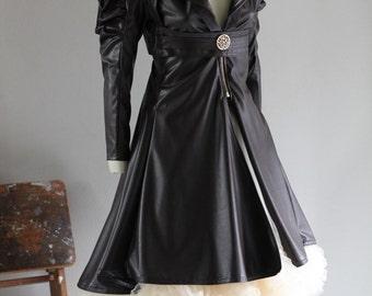 Steampunk Jacket Bolero Leather Gothic Tulle Wedding Bridal Vest Bolero Tulle Skirt CHRISST