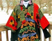 One of a Kind Reconstructed Cardigan Sweater Jacket XL-2X