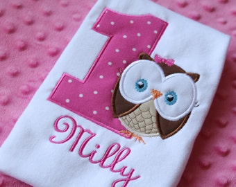Look Whoo's Turning One Owl Bodysuit