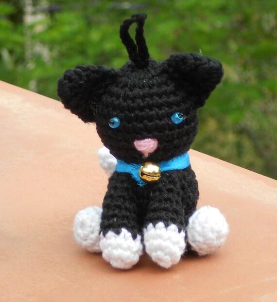 Patrón de ganchillo llavero perritos o gatitos por wolgeit en Etsy