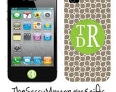 Personalized Apple iPhone 4 and 4s case Hourglass Swirls - Design your Own iPhone 4 and 4s case - Plastic iPhone Case