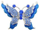 Sapphire Blue Butterfly Pin 1001152