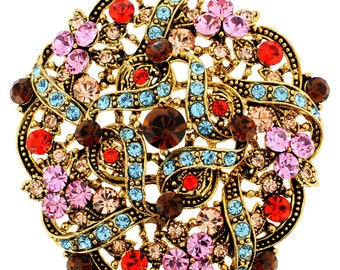 Multi-Color Flower Wedding Brooch/Pendant 1000982