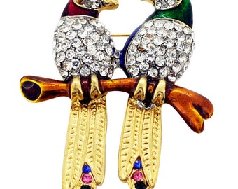 Couple Parrot Pin Bird Brooch Pin 1012122