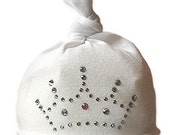 Kensington Baby Crown Clear Crystal Baby Hat, 0-18 Months. Many Colors