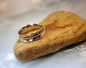 Custom for Sabrina: Sterling Silver Spinner Fidget Ring w Brass Spinner sz 9.5