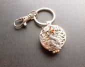 Double Dragon Keychain / Locket Purse Jewelry / Dragon Key Ring / Movie Inspired Purse Bling / KeyFob Locket