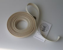 5/8 inch Cotton Tape, unbleached, natural color, 10 yards, hand made tags, ribbons, sewing notions