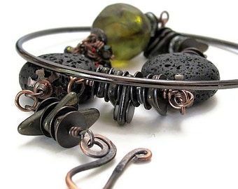 Unique unusual jewelry BLACK SPARKS Russian sci fi literature jewelry unusual bracelets strange science fiction  literary jewelry