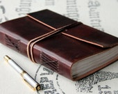 Handmade 230 Page Saddle Brown Leather Travel Journal By Rust