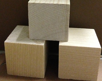 15 unfinished Solid wood blocks. DIY projects.