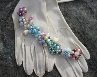 Vintage Earring Assemblage Upcycled Spring and Summer Bracelet Cluster Earrings Refashioned jewelry