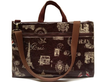 Waterproof -Macbook or Laptop bag with handles and detachable shoulder strap- paris tower