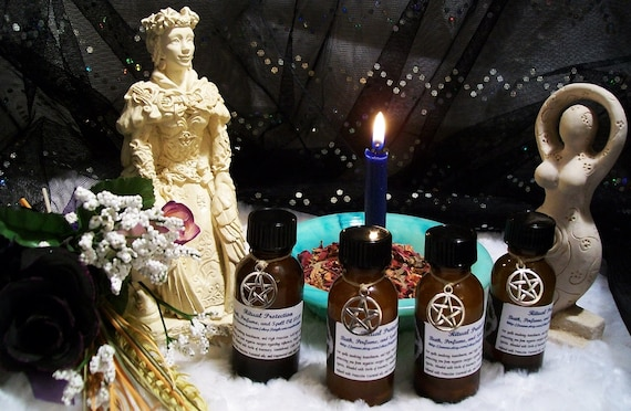 Ritual Protection Oil Holy Water Infused