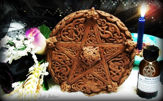 Celtic Knotwork Pentacle Ritual Protection Altar Kit