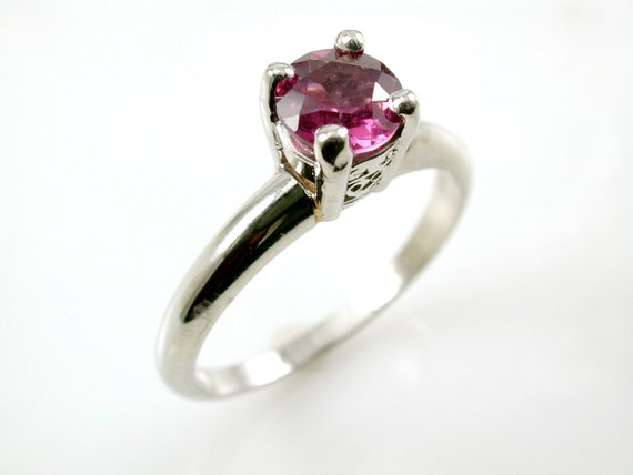 Garnet Engagement Ring Engagement Ring Platinum Unique