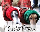 Instant Download - PDF Crochet Pattern for Greyhound Sweater and Snood