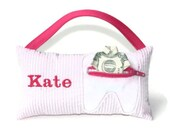 Girl's Personalized Pink Seersucker Tooth Fairy Pillow