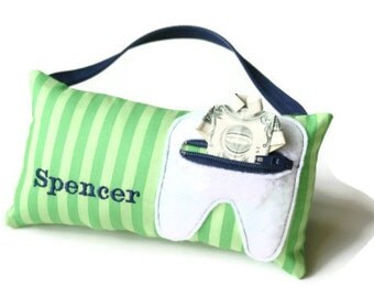 Boy's and Girl's Personalized Tooth Fairy Pillows