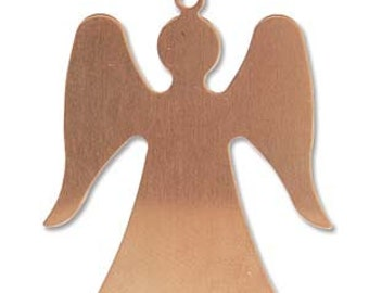 Copper Angel Stamping Blank- Approx. -32.3 x 28.3  mm 24g. You get 2