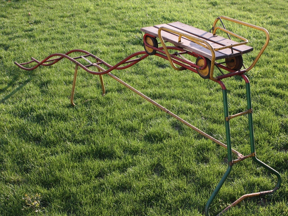 Backyard Roller Coaster Kit : Reserved for Tracy Vintage Rollercoaster by RustyWindmill