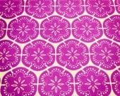 Flower Maze - hand screen printed fabric in Purple Haze