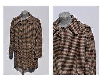 vintage wool coat BROOKS BROTHERS brooksgate wool houndstooth vintage jacket size