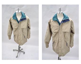 eddie bauer vintage parka jacket mens hooded coat MEDIUM