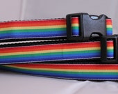 SALE - Rainbow Dog Collar - 3/4 inch 15-25