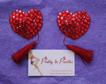 Viva la Glam Burlesque Heart Shaped Pasties